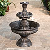 LB International Garden Classic 3-Tier Outdoor Fountain, Resin & Fiberglass
