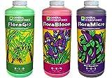 General Hydroponics Floragro, Florabloom & Floramicro Fertilizer, 1 quart, Pack of 3