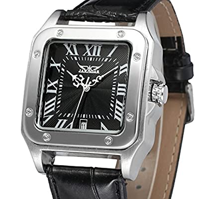 Forsining Black Color Stylish Automatic Watch with White Color Roman Numbers