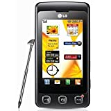 LG KP500 Unlocked Quad-Band Touchscreen Phone with 3.1 MP Camera, Bluetooth, FM Radio and MicroSD Slot--International Version with Warranty (Black)
