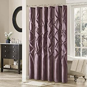 Laurel Polyester Shower Curtain Color Plum Madison Park Laurel Shower Curtain