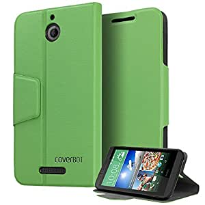 HTC Desire 510 Case, CoverBot HTC Desire 510 Flip Wallet Case with Stand GREEN. Slim Style with Folio Flip Cover