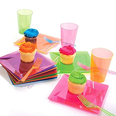 Party Essentials Hard Plastic 10-Ounce Party Cups and Tall Tumblers