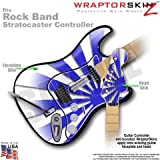 Rising Sun Blue WraptorSkinz Skin fits Rock Band Stratocaster Guitar for Nintendo Wii, XBOX 360, PS2 & PS3 (GUITAR NOT INCLUDED)