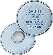 3M 2128 - Filtro P2R, vapores orgánicos y gases ácidos < VLA, ozono (20 unidades)