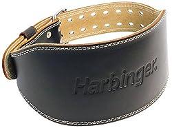 Harbinger 285 6-Inch Padded Leather Lifting Belt (Medium)