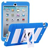 i-Blason ArmorBox Stand Series For Apple iPad Mini 7.9 Inch 2 Layer Convertible Hybrid Kids Friendly Protection Kick Stand Case (Multi Color) - Blue / White