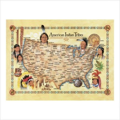 American Indian Tribes - 500 Piece Puzzle - From the Oil Painting by Artist Bill Stroble