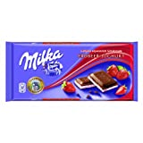 MILKA STRAWBERRY, 20 CHOCOLATE BARS WITH EACH 100 grams