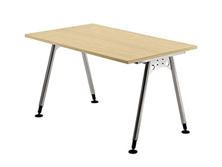 Height Adjustable Desk A Series Size: 76 cm H X 120 cm W X 80 cm D, Table Top Color: Maple