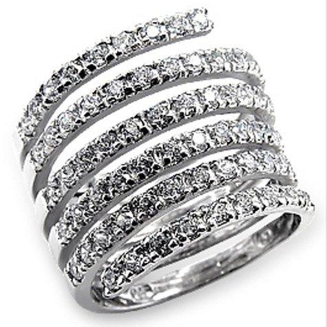 Isady - Namanta - Ladies Ring - White Gold plated Rhodium Bonded - Cubic Zirconia