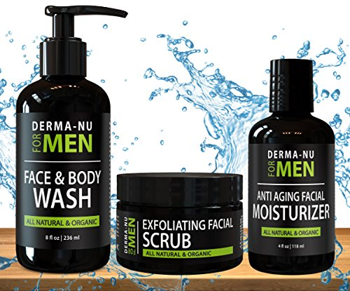All-In-One-Anti-Aging-Daily-Skincare-Set-for-Men-Gentlemans-Grooming-Kit-Unclogs-Pores-Fights-Acne-and-for-Ingrown-Hair-Prevention-3-Piece-Set