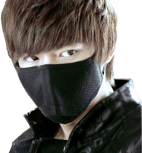【5枚入り】 高品質の立体黒マスク 防塵マスク pm2.5や風邪 インフルエンザ対策に 見た目もかっこいい!