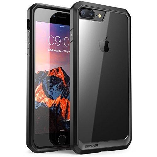 Custodia-iPhone-7-PlusSUPCASE-Unicorn-Beetle-Cover-Protettiva-con-Impact-Absorbing-Gomma-e-pannello-posteriore-completamente-trasparente-per-Apple-iPhone-7-Plus-2016-TrasparenteNero