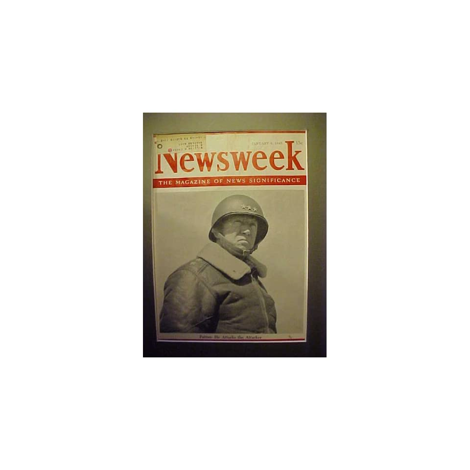 General George Patton January 8, 1945 Newsweek Magazine Professionally Matted Cover