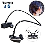 Bluetooth In-Ear Headphones, Alpatronix® [HX200] Active Lifestyle Noise-Isolating Wireless Earbuds Magnetic Earphones Headset with Microphone, Universal Volume Control, Playback Control, Noise Reduction for iPhone 6s Plus 6s 5s 5c 4s, Samsung Galaxy S6 Edge+ S6 S5 S4, Note 5 4 3 / Google Nexus 6 5 4, LG G4 G3, HTC One M9 M8 M7, Motorola Droid, Nokia Lumia, Sony Experia, Other Bluetooth Android, iOS Smartphone Devices & Smart TV - (Onyx Black)