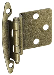 National Hardware BB8197 Standard Non-Spring Cabinet Hinge, Antique Brass