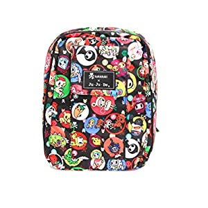 Ju-Ju-Be Mini Be Backpack Style Diaper Bag - Tokidoki Bubble Trouble - Black/Green from Ju-Ju-Be