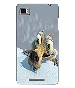 Crazymonk Premium Digital Printed 3D Back Cover For Lenovo Vibe Z K910