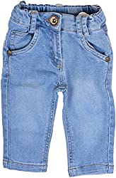 Little Kangaroos Baby Girls' Relaxed Jeans (HF19, Blue)