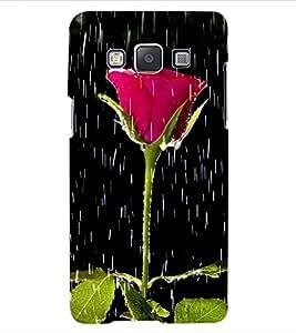 ColourCraft Beautiful Rose Design Back Case Cover for SAMSUNG GALAXY E5