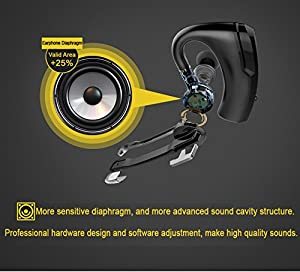 Bluetooth Headset, BlueFit JAZZ 6 Hands Free Wireless Headphones /Earbuds/Earpieces with Microphone for iPhone Samsung Galaxy Android
