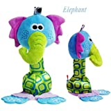 Cute Baby Hanging Toy Multicolor Cartoon Animal Teether Rattle Tinkle Hand Bell Multifunctional Plush Stroller...