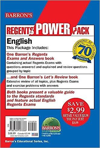 English Power Pack (Regents Power Packs)
