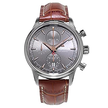 Alpina Men's AL-750VG4E6 Alpiner Chronograph Analog Display Automatic Self Wind Brown Watch