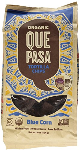 Que Pasa Organic Tortilla Chips, Blue, 16 Ounce (Blue Corn Tortillas Non Gmo compare prices)