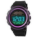 SKMEI Kids Boys Girls Lovely Digital Led Back Light Watches Week Alarm Chronograph Wrist Watch