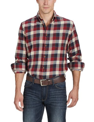 Marc O'Polo Men's 229 1402 42124 Casual Shirt Red (355 Rust) 52
