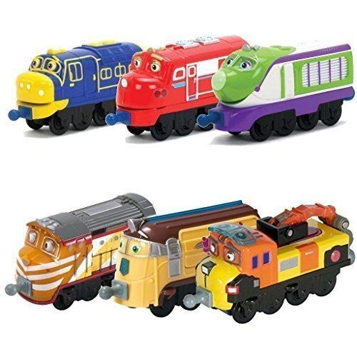 Chuggington StackTrack Toy Train Set 6pk Brewster, Wilson, Koko, Tyne, Frostini, Skylar