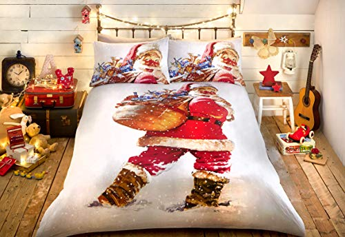 Bedlam Christmas Vintage Santa Duvet Set