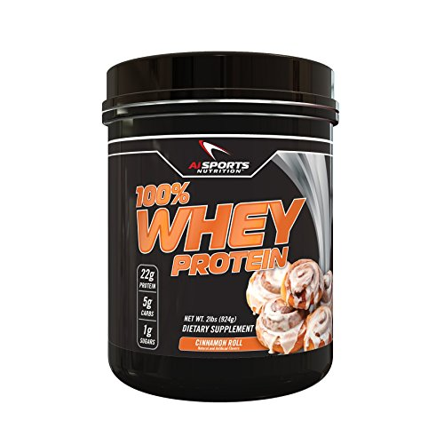Cinnamon Roll Whey Protein Powder 100% Whey Protein 2 lbs (28 Servings) Amazing Cinnamon Flavor (Rice Poder compare prices)