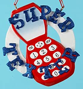 Super Texter Cell Phone Christmas Ornament