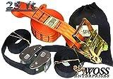 WOSS Gear, 2in Slackline - Made in USA (Orange)