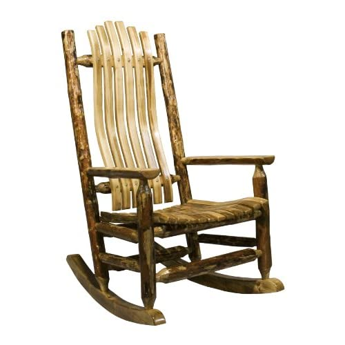 Montana Woodworks MWGCLR Glacier Country Collection Log Rocker