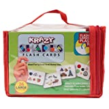 Krazy Flash Cards With Ring - Set Of 4(Capital, Small, Numbers, Shapes)
