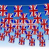 BRITISH UNION JACK 60 FEET UK BUNTING SPORTING EVENTS PUB BBQ THEME PARTY(40 flag)