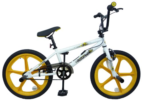 Redemption Mag Wheel Boys BMX Bike - White/Yellow, 20 inch