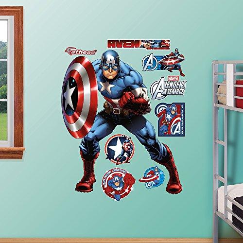 Fathead Captain America-Avengers Assemble Real Big Wall Decal (Fathead Captain America compare prices)