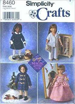 Simplicity 8460 Doll Clothes For 18 Inch Magic Attic