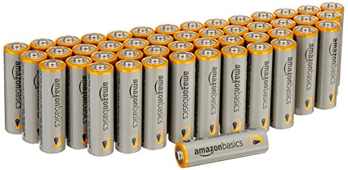 AmazonBasics Lot de 48 piles alcalines Type AA 1,5 V 2875 mAh (design variable)