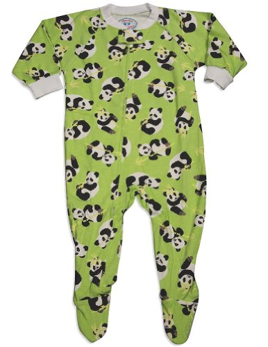 Panda footie pajamas