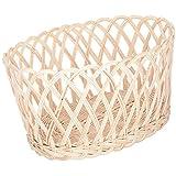Agus Cane Wire Fruit Basket (14 Inch X 10 Inch X 7 Inch, Beige)