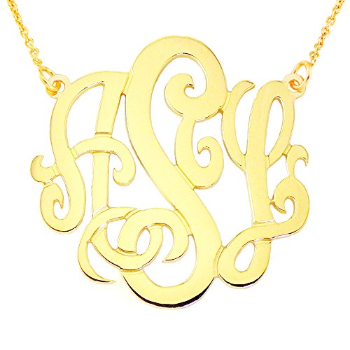 14YMono125-14K-Yellow-Gold-125x04mm-thin-3-Initial-Monogram-Necklace