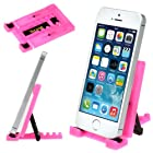 iKross Hot Pink Universal Portable Collapsible Desk Stand holder for Smartphones