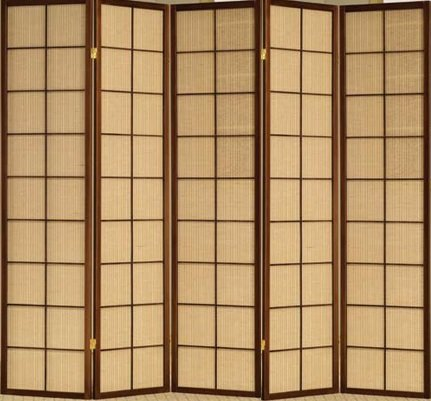 Why Choose Fabric in Lay Folding Room Screen Divider in Cherry Finish Wood (5 Panel)