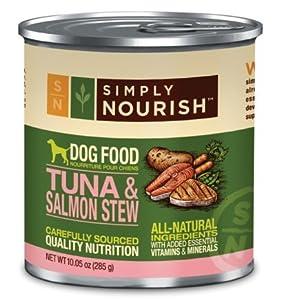 Simply Nourish Tuna & Salmon Stew 10.05 Ounces Grain Free Dog Food (Pack of 12)